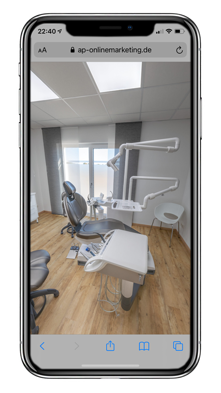 Virtueller Rundgang in Arztpraxis
